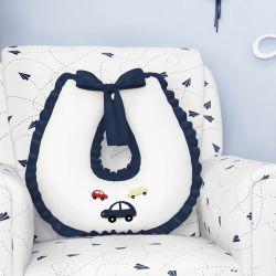 Almofada Amamentação Ursinho Bebê Azul Marinho 50cm