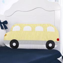 Almofada Ônibus Amarela/Cinza