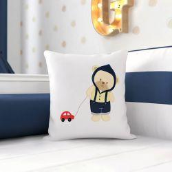Almofada Ursinho Bebê Azul Marinho