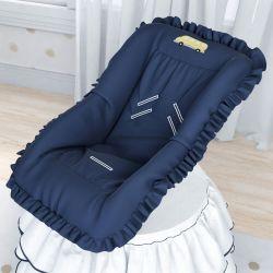 Capa de Bebê Conforto Ursinho Bebê Azul Marinho