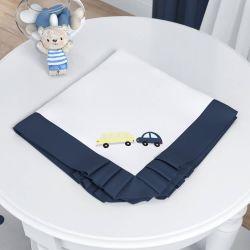 Manta Ursinho Bebê Azul Marinho