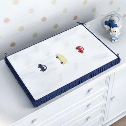 Trocador de Fraldas Ursinho Bebê Azul Marinho