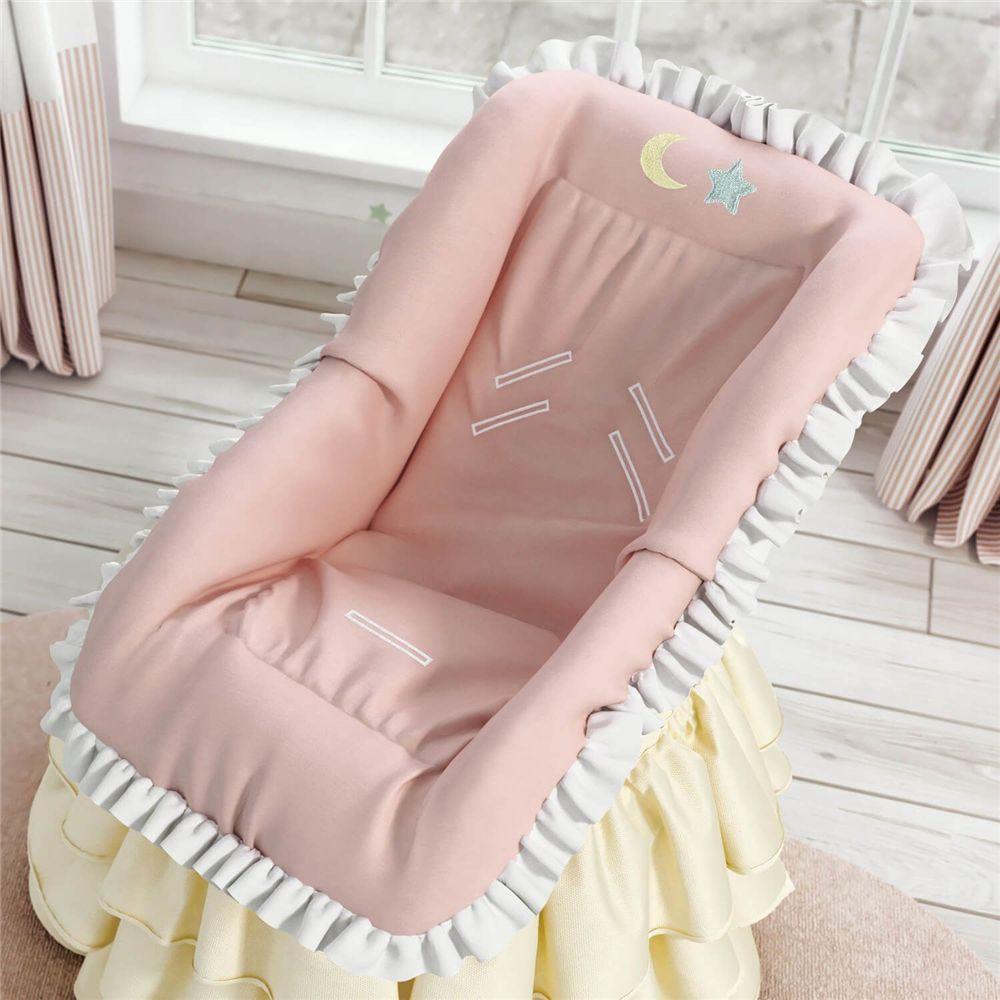 Capa para Bebê Conforto Lua e Estrelinha Grão de Gente