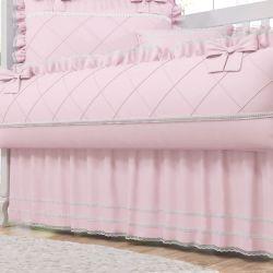Saia de Berço Rosa Clássico