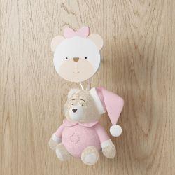 Enfeite para Puxador Ursinha Rosa Clássico