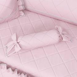 Almofada Apoio Bala Rosa Clássico 60cm