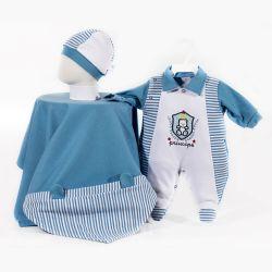 Saída Maternidade Suedine Príncipe Azul