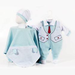 Saída Maternidade Suedine Gravatinha