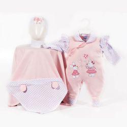 Saída Maternidade Suedine Coelhinha e Ursinha