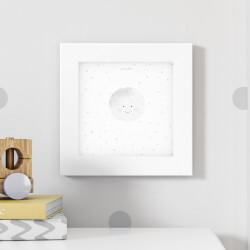Quadro Lua e Estrelinhas Cinza 20cm