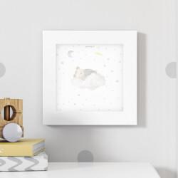 Quadro Ursinho Soneca nas Nuvens 20cm