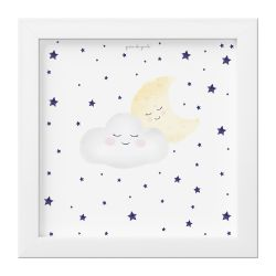 Quadro Nuvem e Lua