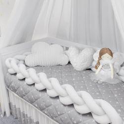 Kit Berço Trança Estrelinhas Branco