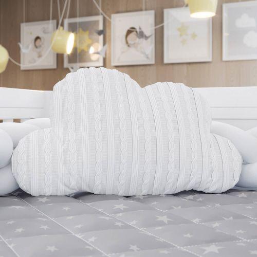 Almofada Nuvem Tricot Branca