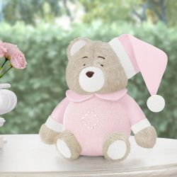 Urso Soneca Rosa Clássico 18cm