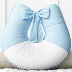 Almofada Amamentação Estrelinha Azul Bebê