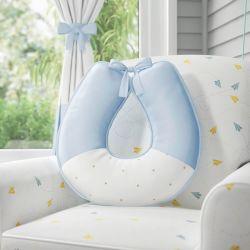 Almofada Amamentação Urso Aviador Azul Bebê