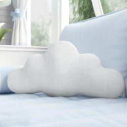 Almofada Nuvem Urso Aviador Azul Bebê 50cm