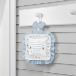 Porta Maternidade Urso Aviador Azul Bebê