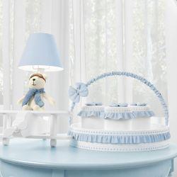 Kit Acessórios Urso Aviador Azul Bebê