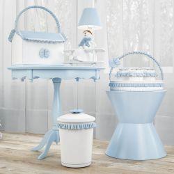 Kit Higiene Urso Aviador Azul Bebê