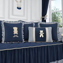 Almofadas Luxo Azul Marinho 4 Peças