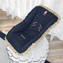 Capa para Bebê Conforto Urso Luxo Azul Marinho
