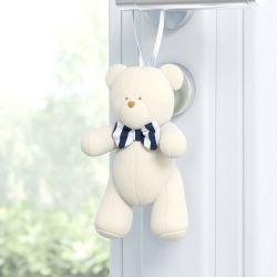Enfeite para Puxador Urso Luxo Azul Marinho