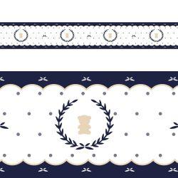 Faixa Adesiva de Parede Urso Luxo Azul Marinho