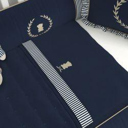 Jogo de Lençol Berço Urso Luxo Azul Marinho
