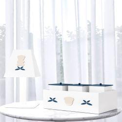 Kit Acessórios Urso Luxo Azul Marinho