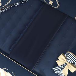 Manta Bebê Tricot Luxo Azul Marinho 1m