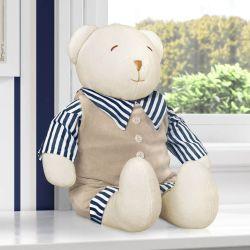 Urso Luxo Azul Marinho 45cm