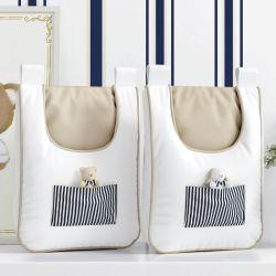 Porta Fraldas Varão Listrado Luxo Branco/Azul Marinho