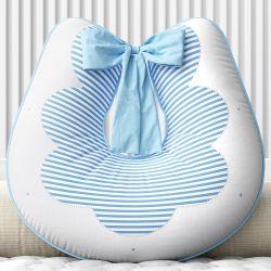 Almofada Amamentação Estrelinhas e Listras Azul