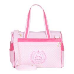 Bolsa Maternidade Ursinho Rosa/Pink 35cm