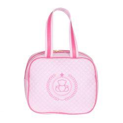 Frasqueira Maternidade Ursinho Rosa/Pink 25cm