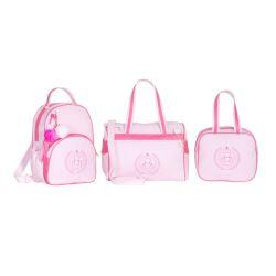 Conjunto de Bolsas Maternidade Ursinho Rosa/Pink