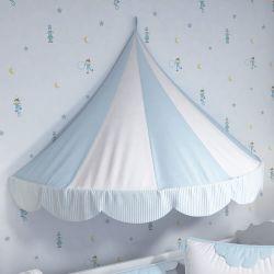 Dossel Berço Tenda Circo Azul