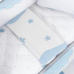 Manta Tricot Estrelas Azul