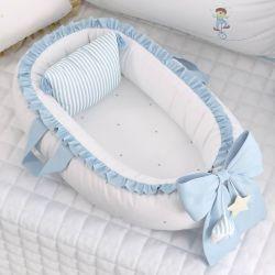 Ninho para Bebê Redutor de Berço Circo Estrelinhas Azul