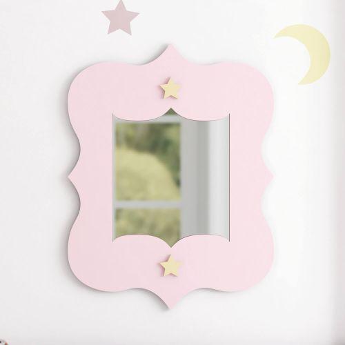 Espelho Estrelinhas Rosa 36cm