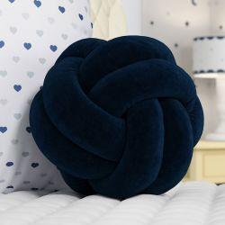 Almofada Nó Balú Azul Marinho 25cm