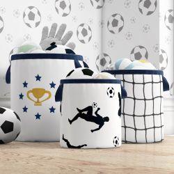 Cestos Organizadores para Brinquedos Futebol Infantil Jogadores