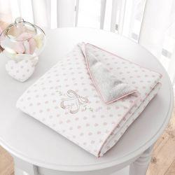 Cobertor Florzinhas Bordado