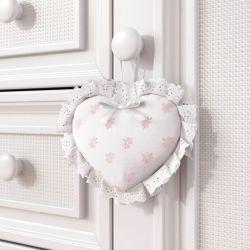 Enfeite para Puxador Coração Florzinhas