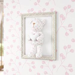 Quadro Ursa Estampada com Coração Branco