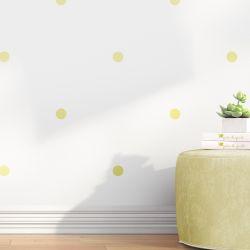 Papel de Parede Bolinhas Amarelo 3m