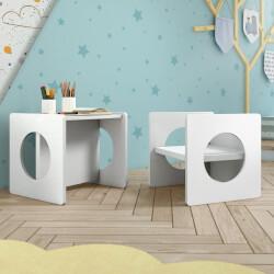 Cadeira Cubo Montessoriano Luna 2 em 1