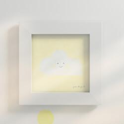 Quadro Nuvem Amarelo 20cm